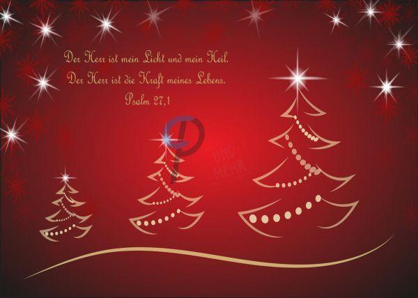 204- Weihnachtskarte Psalm 27,1