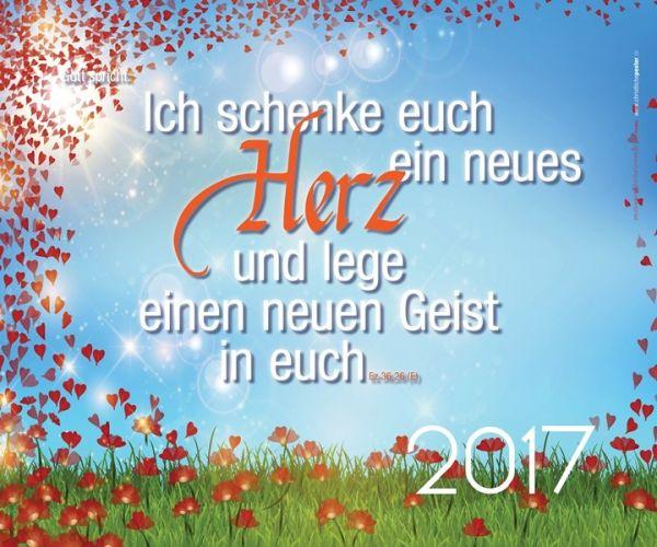 321-Jahreslosung 2017 - Blütenherzen (Querformat/Hochformat) Poster