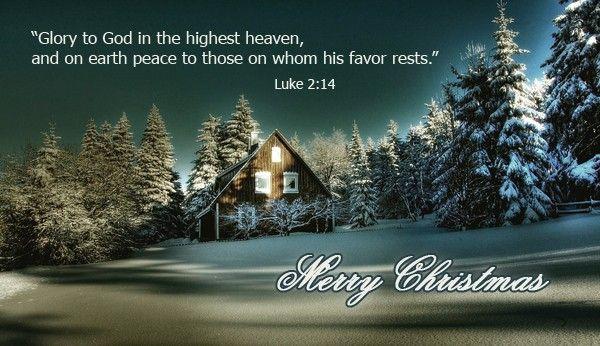 160.1 Christmas Card Luke 2:14