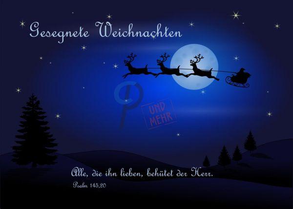 203- Weihnachtskarte Psalm 145,20