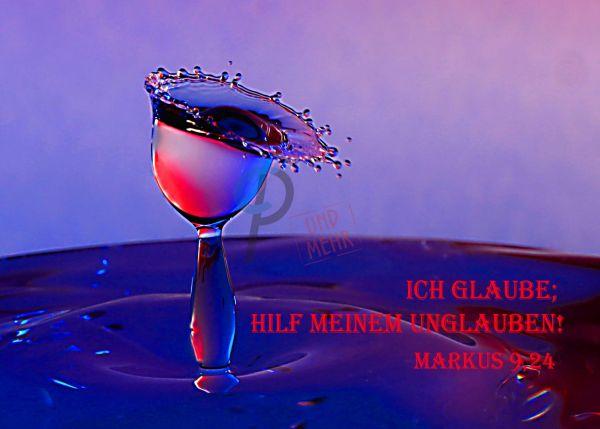 713 - Jahreslosung 2020 - Wassertropfen blau-rot