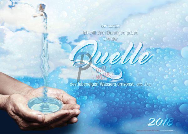 514.1 - Jahreslosung 2018 Wasserhahn quer (mit Jahreszahl)