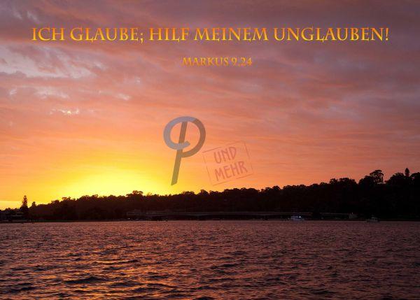717 - Jahreslosung 2020 - Sonnenuntergang am Meer 2