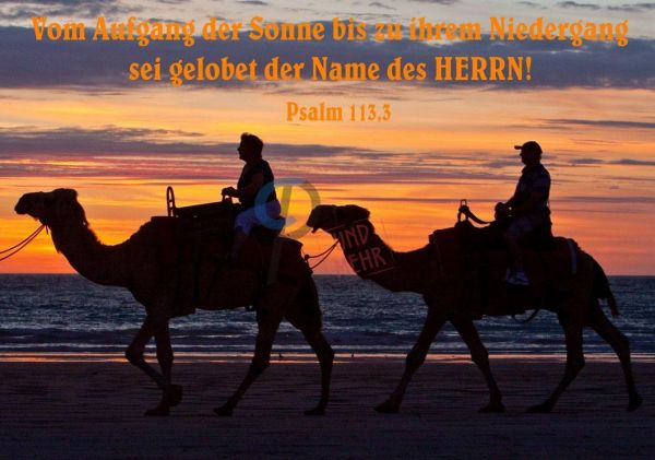 365-Psalm 113,3 Poster / Leinwand