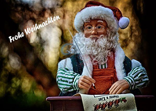 200 - Weihnachtskarte Santa