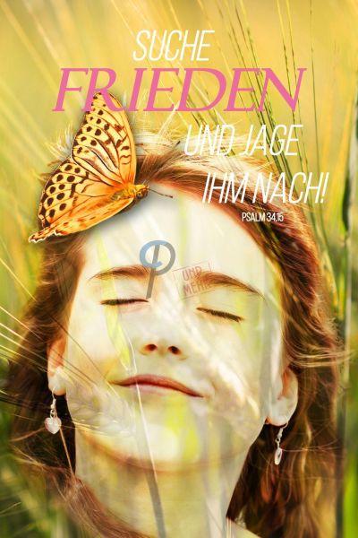 608 Jahreslosung 2019 Gesicht mit Schmetterling